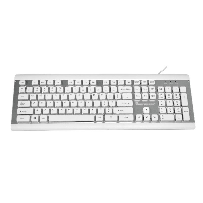 Usb Desktop 103 Keys Keyboard Chocolate Key And Anodized