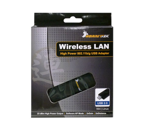 Hornettek HT 2223BK High Power 802 11n Wireless WiFi USB Adapter