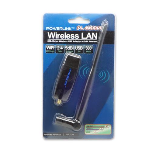 Powerlink PL U3005N 802 11n 300Mbps Wireless USB LAN Adapter 5dBi Antenna Sale
